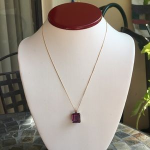 Jewelry - Amethyst 14K Gold Pendant Necklace 💕💞💋